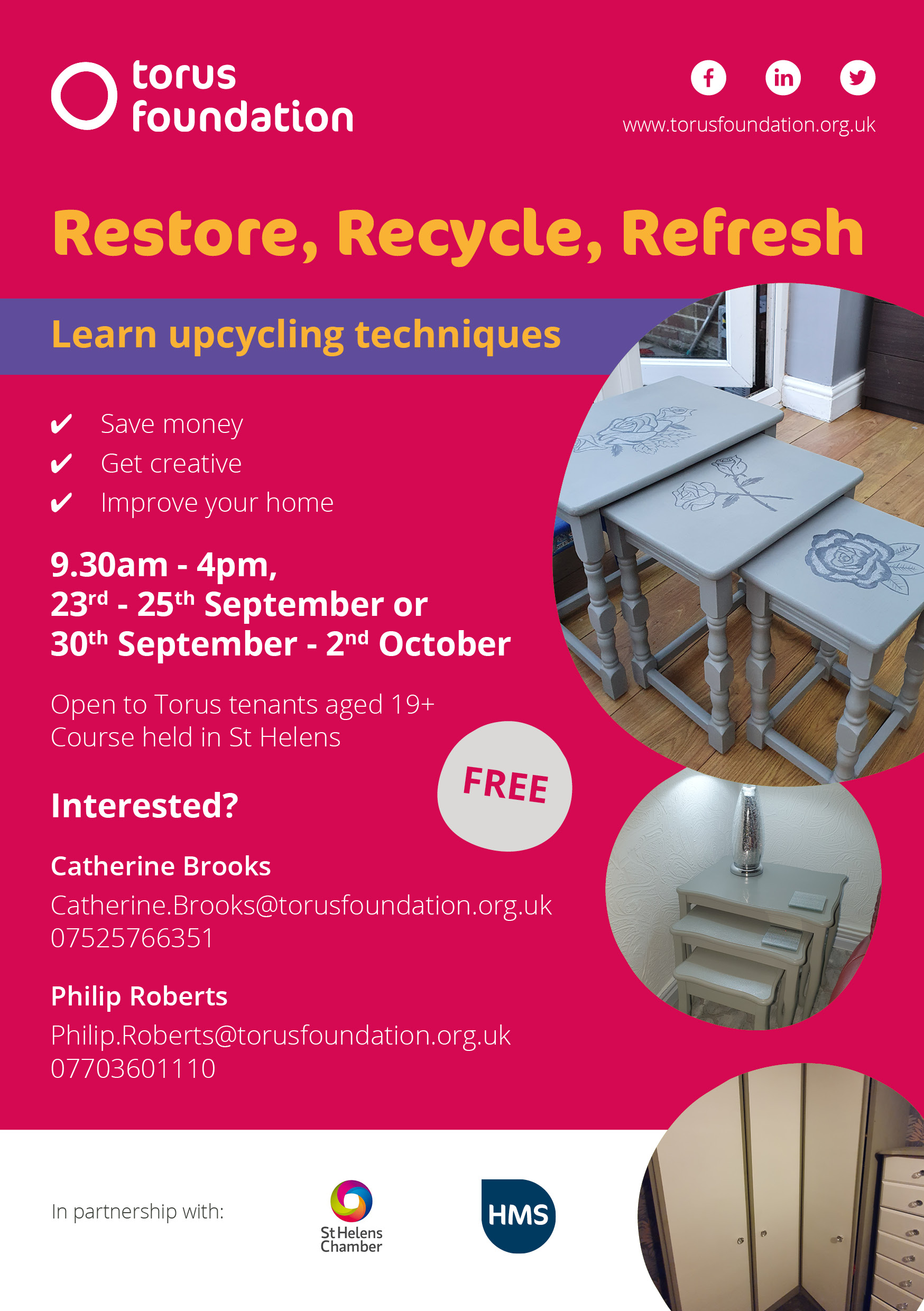 Upcycling course poster